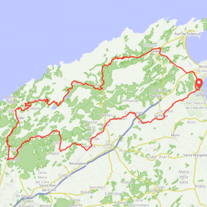 Route 107 - Playa de Muro - Pollenca - Lluc - Soller - Bunyola - Orient - Selva - Playa de Muro
