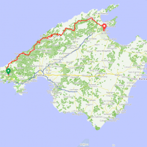 Route 110 - Andraxt - Valldemosa - Soller - Pollenca - Playa de Muro