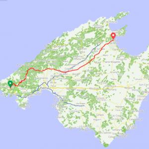 Route 111 - Andraxt - Esporles - Santa Maria - Playa de Muro