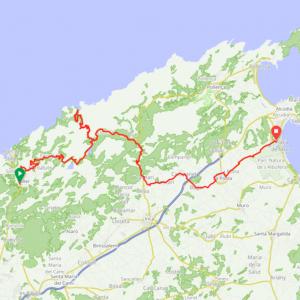 Route 112 - Soller - Sa Callobra - Caimari - Playa de Muro